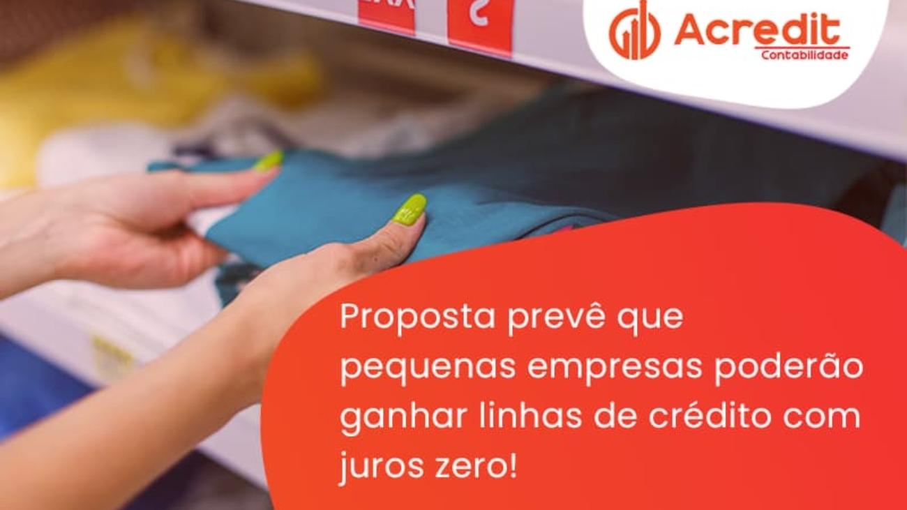 Proposta Prevê Que Pequenas Empresas Poderão Ganhar Linhas De Crédito Com Juros Zero! Acredit - Acredit